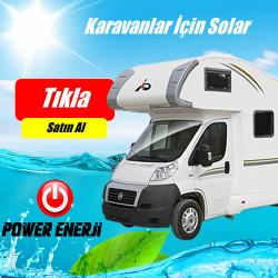 Karavanlar İçin Güneş Enerjisi Elektrik Üretimi Paketi - 300 Watt