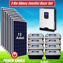 3 kW 3000 Watt Ev Tipi Güneş Enerjisi Elektrik Üretimi