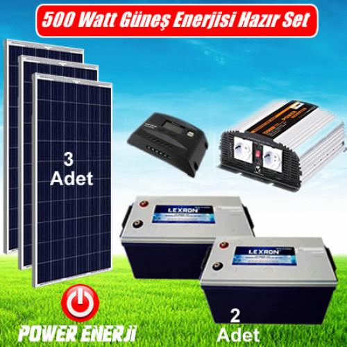 500 Watt Ev Tipi Güneş Enerjisi Elektrik Üretimi