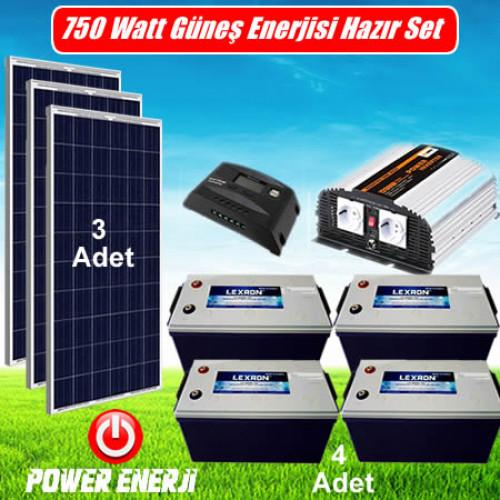 750 Watt Ev Tipi Güneş Enerjisi Elektrik Üretimi