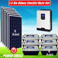 1.5 kW 1500 Watt Ev Tipi Güneş Enerjisi Elektrik Üretimi
