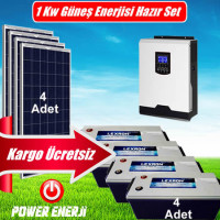 1 kW 1000 Watt Ev Tipi Güneş Enerjisi Elektrik Üretimi