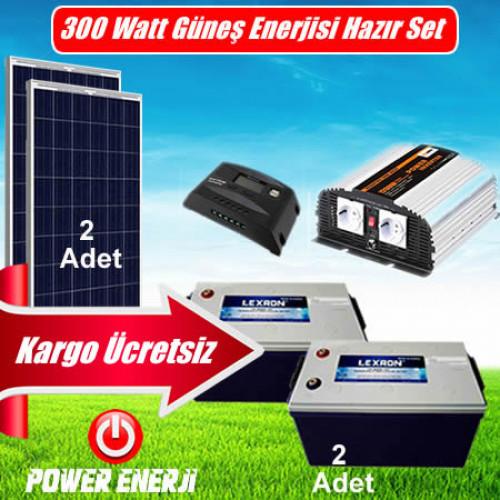 300 Watt Ev Tipi Güneş Enerjisi Elektrik Üretimi