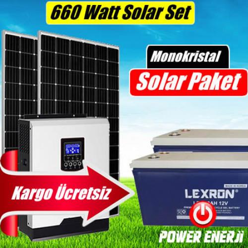 660 Watt  (2 X 330 Watt Perc Monokristal) Solar Enerji Paketi Fiyatı