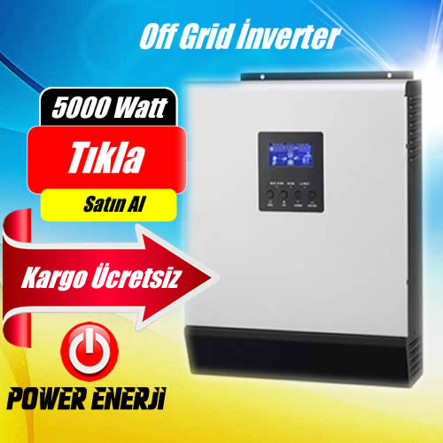 5 kVA (5000Watt) Lexron Smart Marka 48 Volt Tam Sinus Akıllı İnverter Fiyati