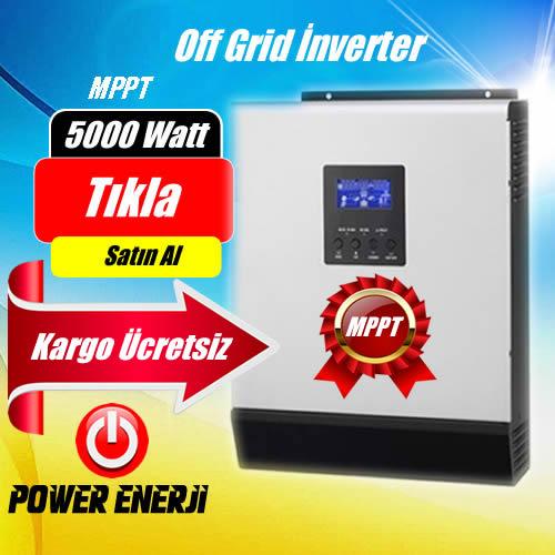 5 Kva Lexron Marka 5000Watt 48 Volt MPPT Tam Sinus Akıllı İnverter Fiyatı