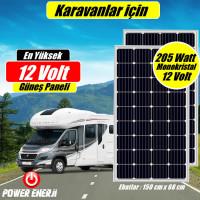 410 Watt (205watt x 2 Adet) Monokristal Panel Enerji Sistemi Fiyatı ( Karavan ve Bağ Evi için )