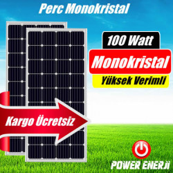 100 Watt Perc Monokristal (Yüksek Verimli) Güneş Paneli Fiyatı