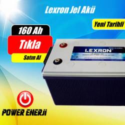 160 Ah 12 Volt Lexron Deep Cycle Jel Akü Fiyatı