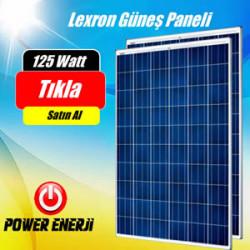 125 Watt 12 Volt Lexron Polikrsital Güneş Paneli Fiyatı