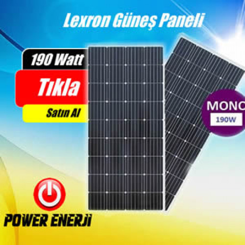 190 Watt Lexron Monokristal Güneş Paneli Fiyatı