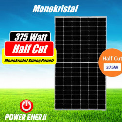 375 Watt Half Cut Monokristal Güneş Paneli Fiyatı