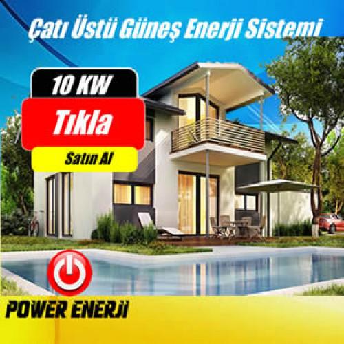 10 Kw Çatı Üstü Güneş Enerjisi Elektrik Üretimi