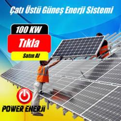 100 Kw Çatı Üstü Güneş Enerjisi Elektrik Üretimi Santrali