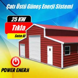 25 Kw Çatı Üstü Güneş Enerjisi Elektrik Üretimi Santrali