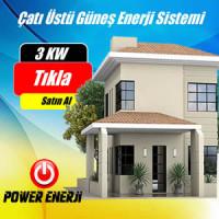 3 Kw Çatı Üstü Güneş Enerjisi Elektrik Üretimi Santrali