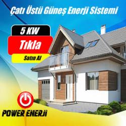 5 KW Çatı Üzeri Güneş Enerji Santrali