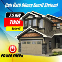 7.5 Kw Çatı Üstü Güneş Enerjisi Elektrik Üretimi