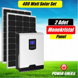 400 Watt (200watt x 2 Adet) Monokristal Panel Enerji Sistemi Fiyatı ( Karavan ve Bağ Evi için )