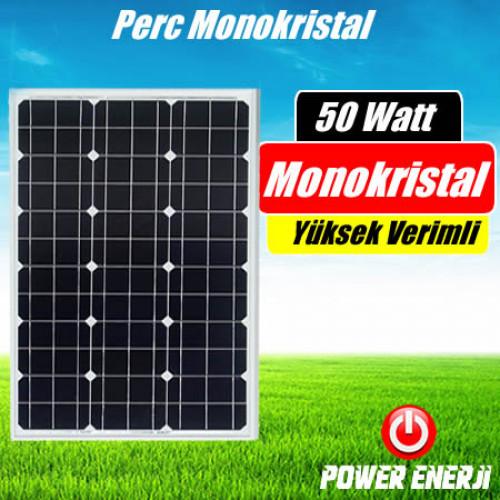 50 Watt Perc Monokristal (Yüksek Verimli) Güneş Paneli Fiyatı