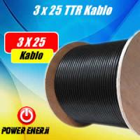 3 x 25 TTR  Kablo Fiyatı (Yassı Dalgıç Pompa Kablosu) Metre Fiyatı
