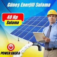 40 Hp (Beygir) Dalgıç Pompa Güneş Enerjili Sulama Sistemi