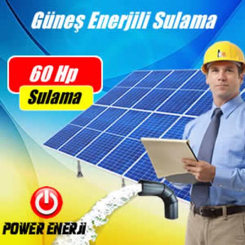60 HP (Beygir)  Dalgıç Pompa Güneş Enerjili Tarımsal Sulama Sistemi