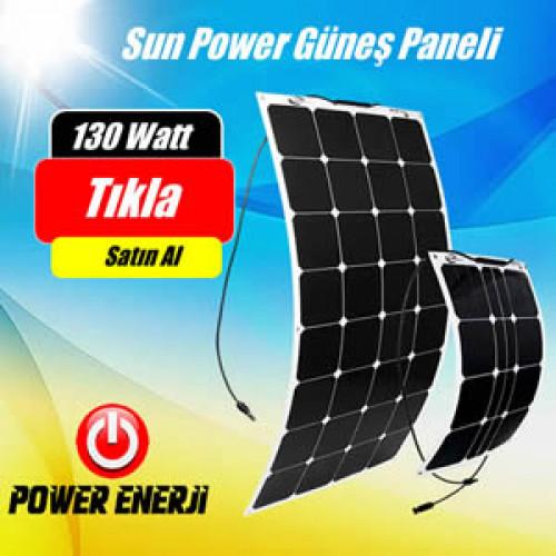 130 Watt Sun Power Monokristal Esnek Güneş Paneli Fiyatı