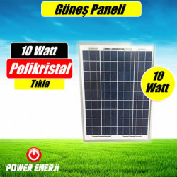 10 Watt 12 Volt Güneş Paneli Fiyatı