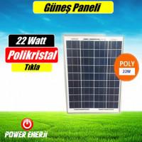 22 Watt 12volt Güneş Paneli Fiyatı