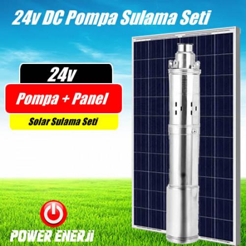 24v Dc Dalgıç Pompa Güneş Paneli ile Çalışan Solar 24volt Su Pompası Seti Fiyatı