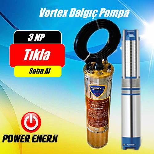 3 Hp Beygir 2.2 Kw  Vortex Dalgıç Pompa Fiyatı