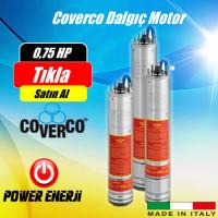 0.75 Hp 0.55 Kw Monofaze 220 V Coverco Dalgıç Pompa Motoru Fiyatı