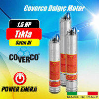 1.5 Hp 1.1 Kw Monofaze 220 V -380 V Coverco Dalgıç Pompa Motoru Fiyatı
