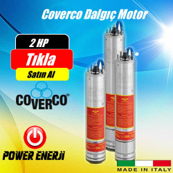 2 Hp 1.5 Kw Monofaze 220 V -380 V Coverco Dalgıç Pompa Motoru Fiyatı