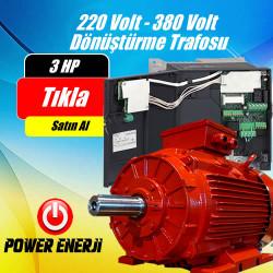 220 Volt Giriş 380 Volt Çıkış Dönüştürücü İnverteri (3 Hp 2.2kw 380 Volt Motorlar İçin)