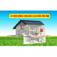 2 kW 2000 Watt Ev Tipi Güneş Enerjisi Elektrik Üretimi