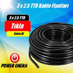 3 x 2,5 TTR Kablo Fiyatları (100 Metre Fiyatı)