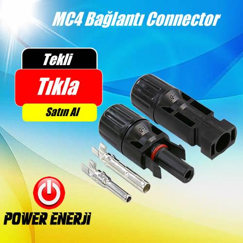 MC4 Bağlantı Konnectörü - Paralelleme TEKLİ DİŞİ VE ERKEK