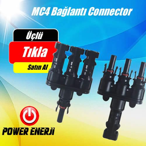 MC4 Bağlantı Konnektörü - Üçlü Paralelleme Dişi ve Erkek ürün özellikleri ve fiyatı
