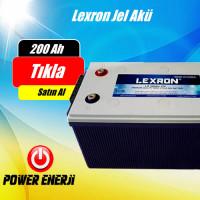 LEXRON 200 Ah (AMPER) JEL AKÜ ( Güney Kore)