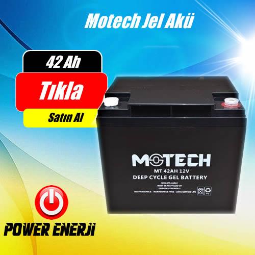42Ah 12 Volt Motech Jel Akü Fiyatı