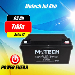 65 Ah-12 Volt Jel Elektrikli Araç Aküsü