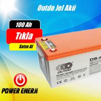 100 Ah 12 volt Outdo  Jel Akü Fiyatları