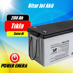 200 Ah 12 Volt Ritar Deep Cycle Jel Akü