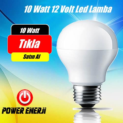 10 Watt 12 Volt Lexron Dc Led Ampul ( Solar Lamba )