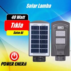 40 Watt Led Solar Park Bahçe Sokak Cadde Aydınlatma Armatürü (ALL IN ONE)