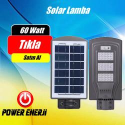 60 Watt Led Solar Park Bahçe Sokak Cadde Aydınlatma Armatürü (ALL IN ONE)