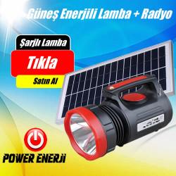 Güneş Enerjili Solar Aydınlatma Radio Usb Telefon Şarj Cihazı