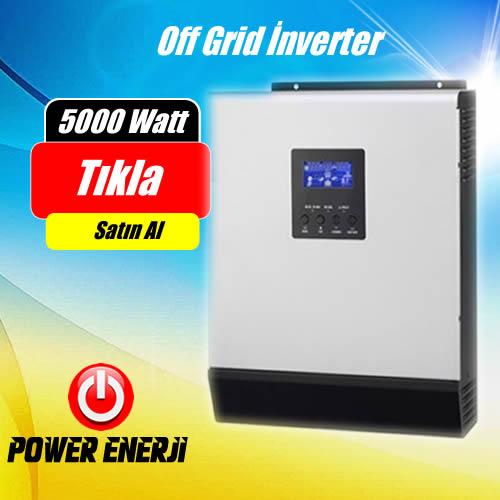 5 kVA (5000Watt) 48 Volt Tam Sinus Akıllı İnverter Fiyati
